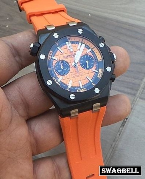 Audemars Piguet Diver Black Orange Mens Watch