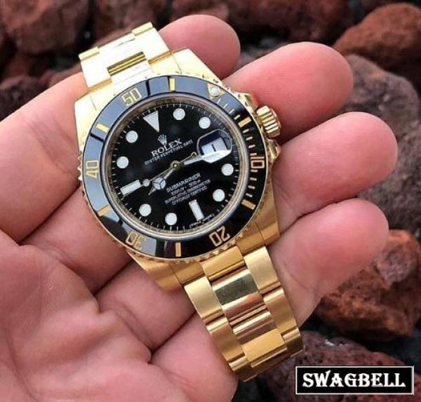 Rolex Submariner Black Gold Swiss Automatic Watch
