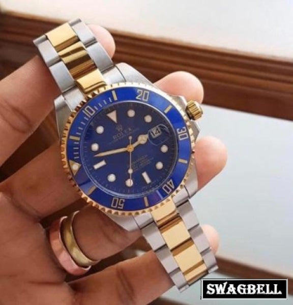 Rolex Submariner Blue Dual Tone Swiss Automatic Watch