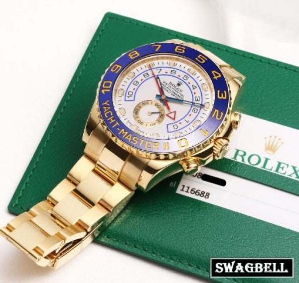Rolex Yatch Master Golden Swiss Automatic Watch