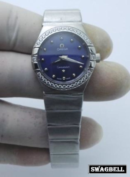 Omega Constellation Blue Women Watch