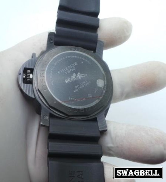 Panerai Submersible Black Rubber Strap Watch