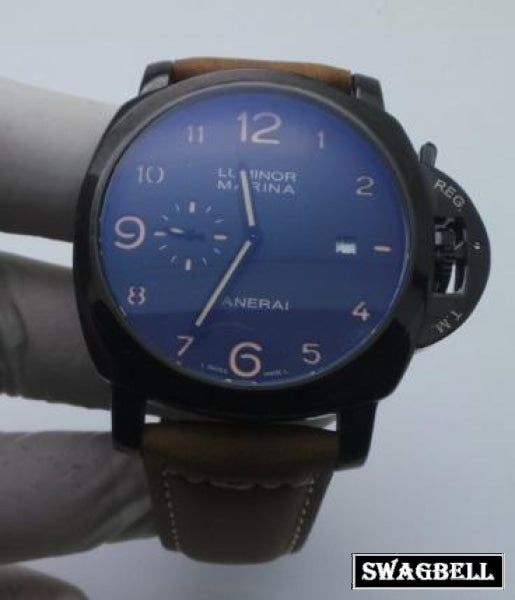 Panerai Marina Black Mens Watch