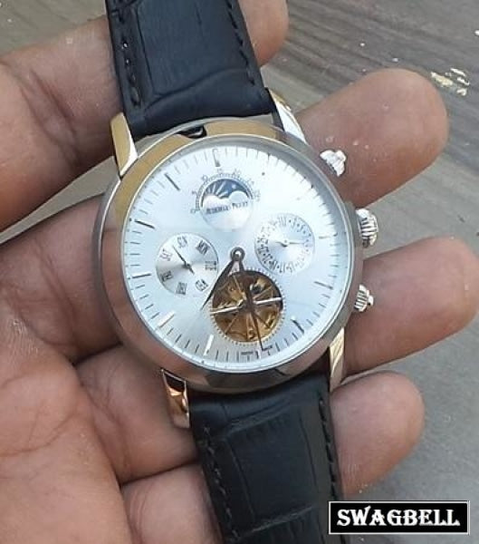 Audemars Piguet Jules Tourbillon Day Date White Swiss Automatic Watch