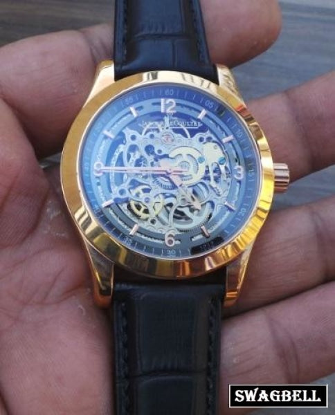 Jaeger Lecoultre Skeleton Black Swiss Automatic Watch