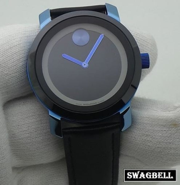 Movado Edge Leather Strap Watch