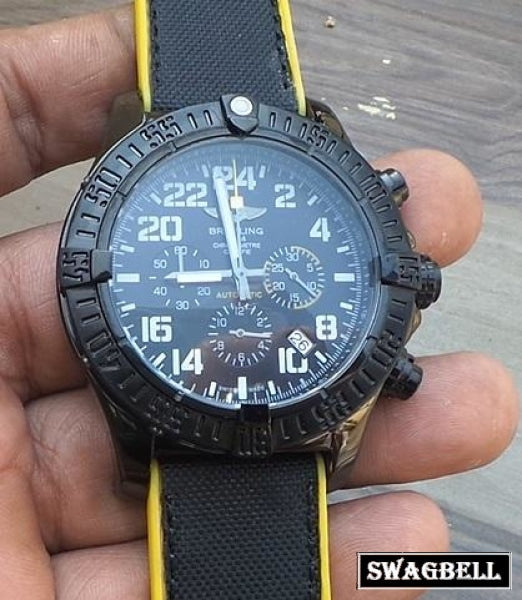 Breitling Super Avenger Military Black Mens Watch