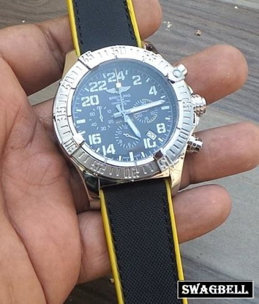 Breitling Super Avenger Military Mens Watch