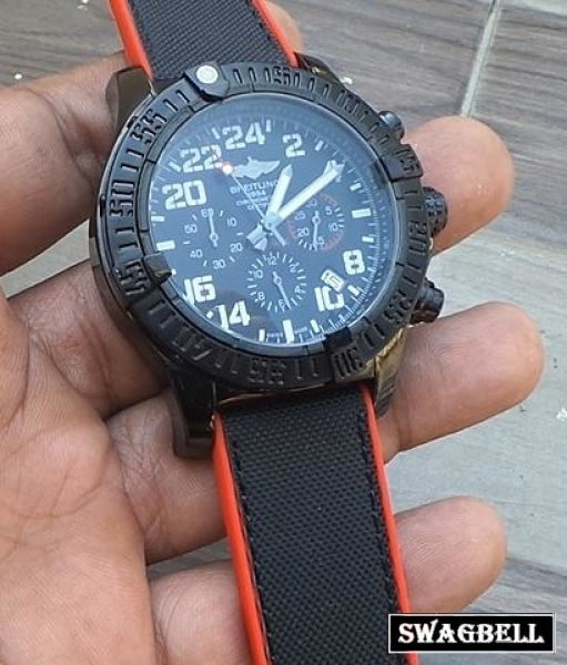 BREITLING SUPER AVENGER MILITARY BLACK 2 MEN'S WATCH