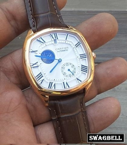 Cartier Drive De Sun Moon Phase Swiss Automatic Watch