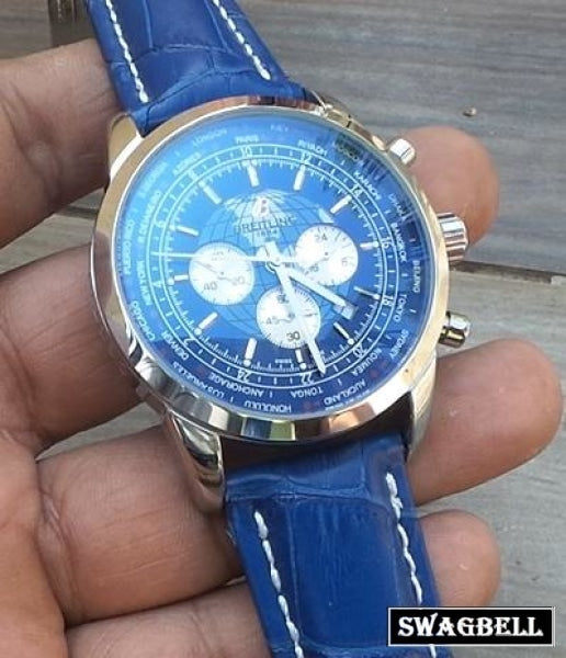 Breitling Transocean Blue Mens Watch