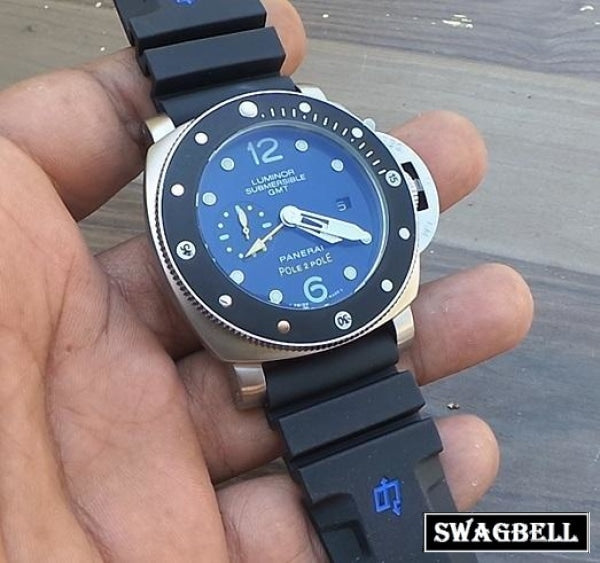 Panerai Submersible Gmt Pole Swiss Automatic Watch