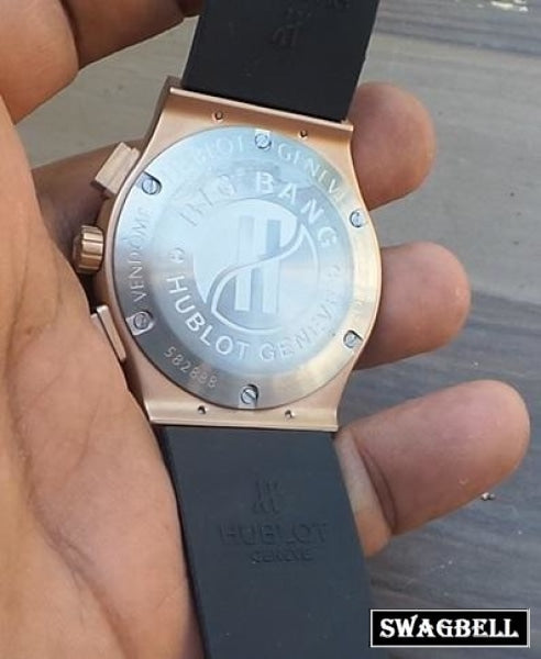Hublot Big Bang Rose Gold Rubber Strap Watch