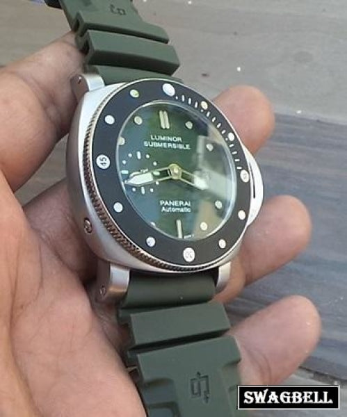 Panerai Submersible Green Swiss Automatic Watch