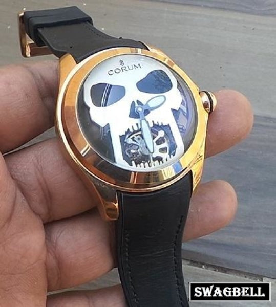 Corum Bubble Skull Tourbillon Swiss Automatic Watch