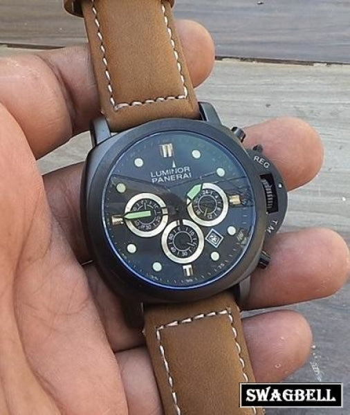 Panerai Chronograph Black Mens Watch