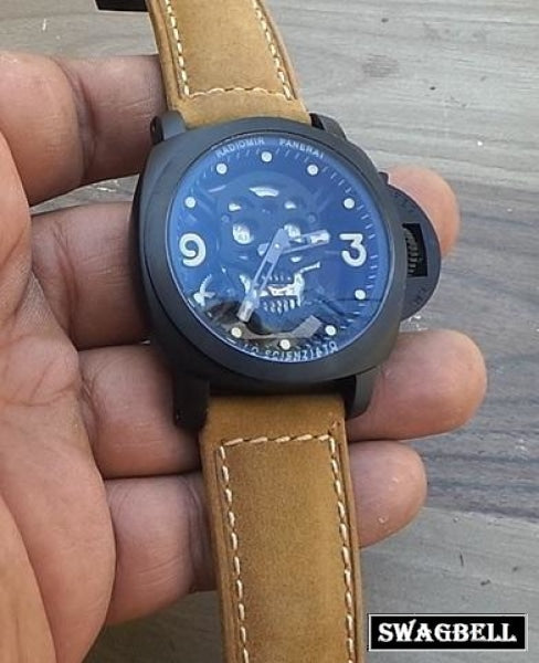 Panerai Skull Face Mens Watch