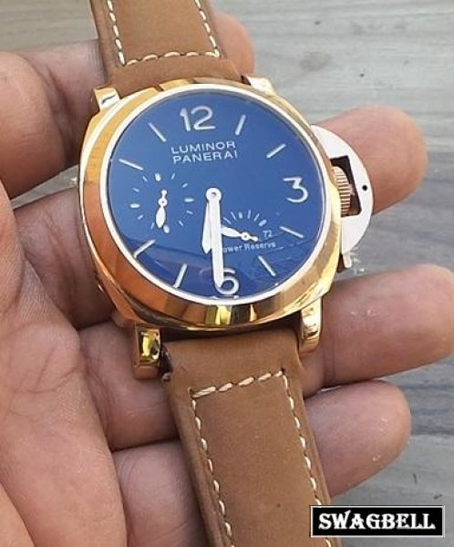 PANERAI POWER RESRVE ROSE GOLD SWISS AUTOMATIC WATCH