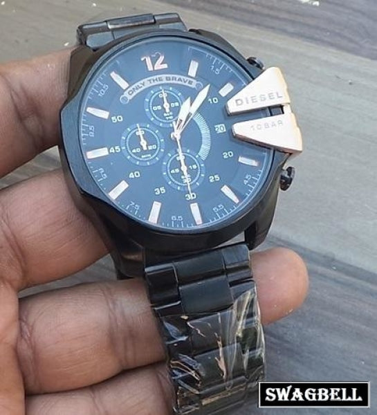 Diesel Black Ceramic Braclet Mens Watch