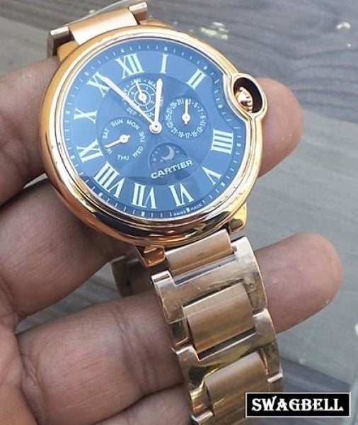 Cartier Ballon Bleu De Celender Rose Gold Watch