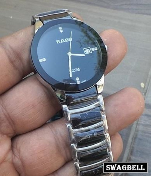 Rado Jublie Daistar Black Steel Mens Watch