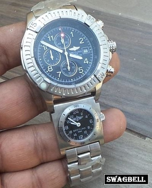 Breitling Dual Time Black Mens Watch