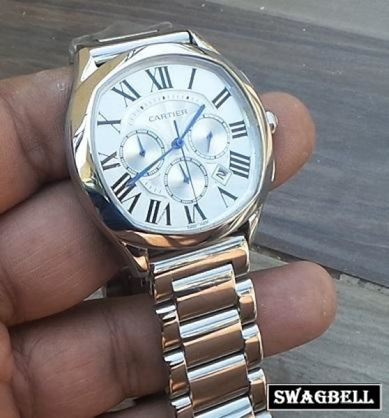 Cartier Drive De White Steel Watch