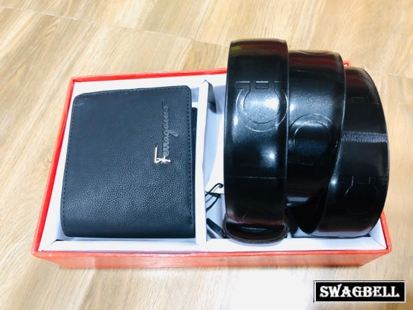 Salvatore Ferragamo Belt Wallet Combo - 1