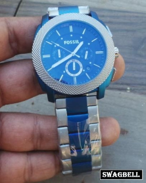 Fossil Classic Blue Dual Tone Mens Watch