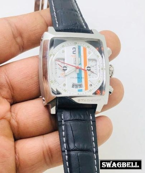 TAG HEUER MONCAO WHITE MEN'S WATCH