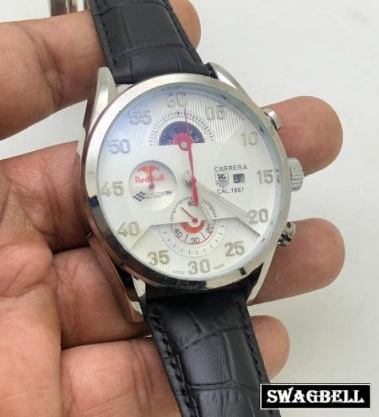 TAG HEUER CARRERA CALIBRE RED BULL STEEL WHITE WATCH
