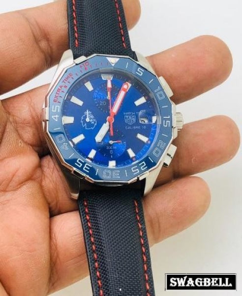 TAG Heuer Match Timer Calibre 16 Blue Dial Watch
