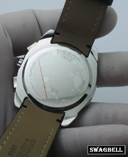 Tissot Couturier Black Leather Strap Watch