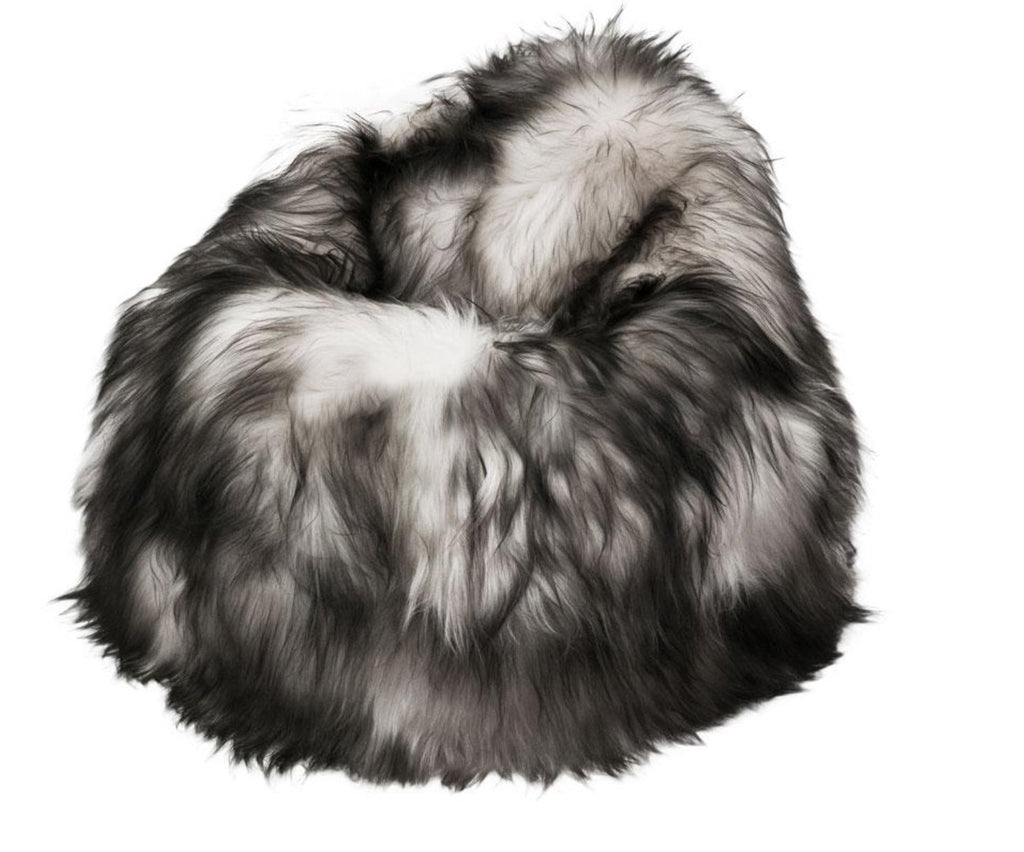 100% Icelandic Longhair Sheepskin Beanbag Chair - Wildash London