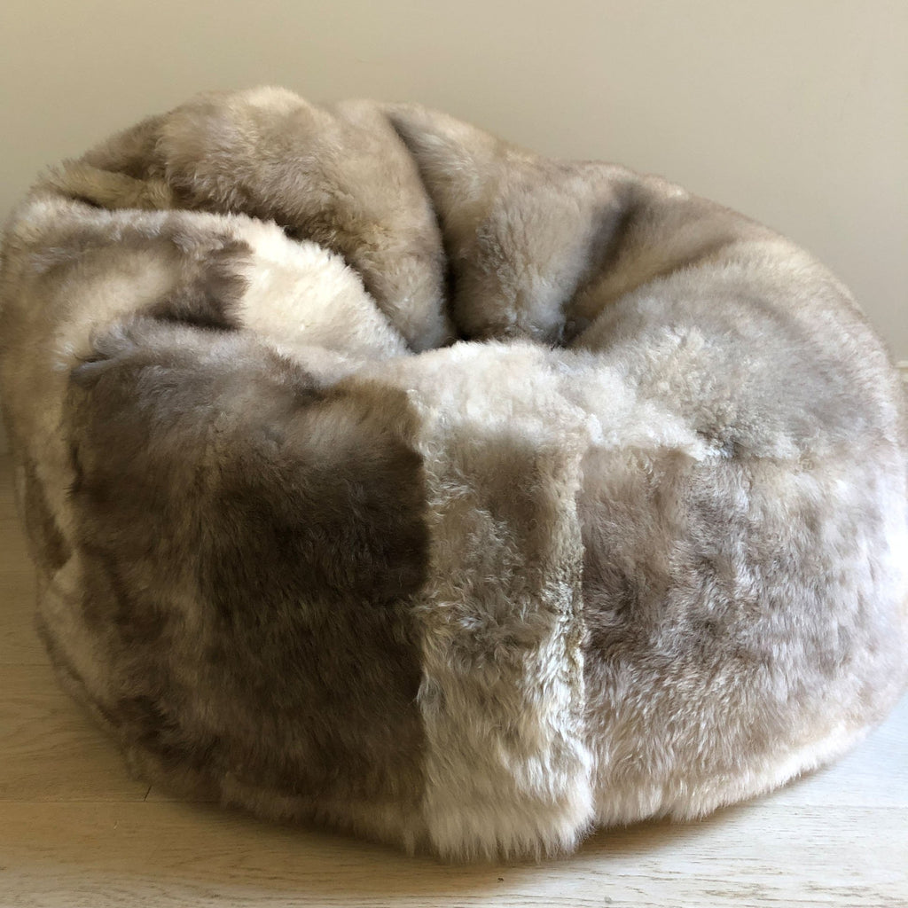 100% Natural Macedonian Sheepskin Beanbag Chair - Wildash London