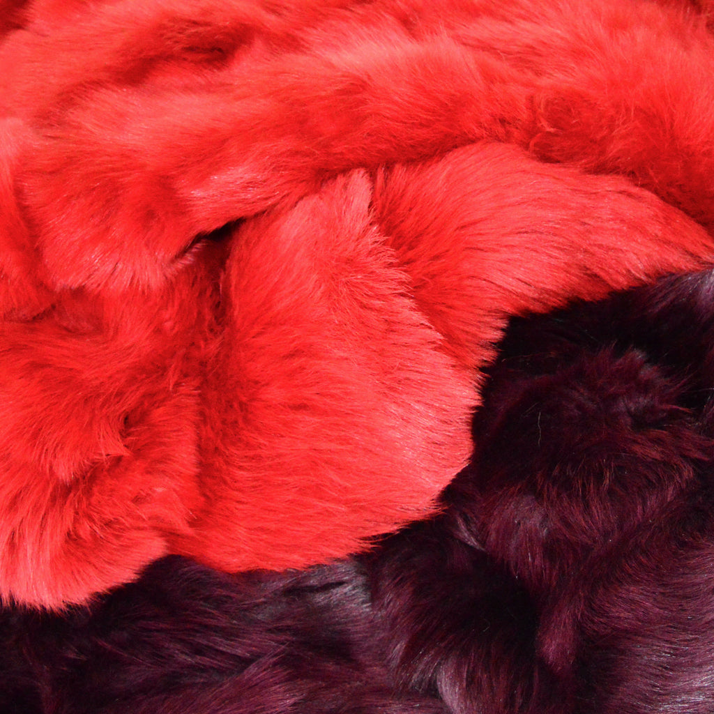 Cherry Red Shearling 135cm x 200cm - Wildash London