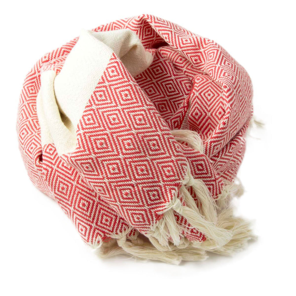 Alicia Hammam Towel Red - Wildash London