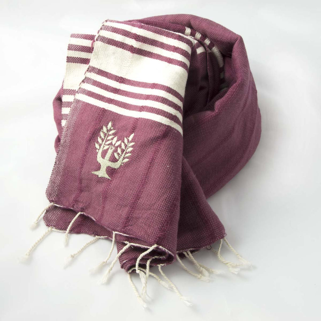 Amalfi Hammam Towel Dewberry - Wildash London