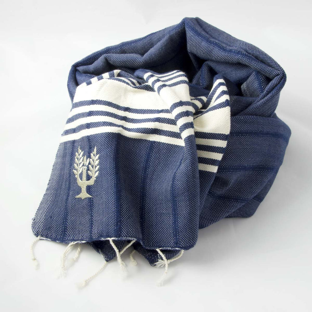 Amalfi Hammam Towel Navy - Wildash London