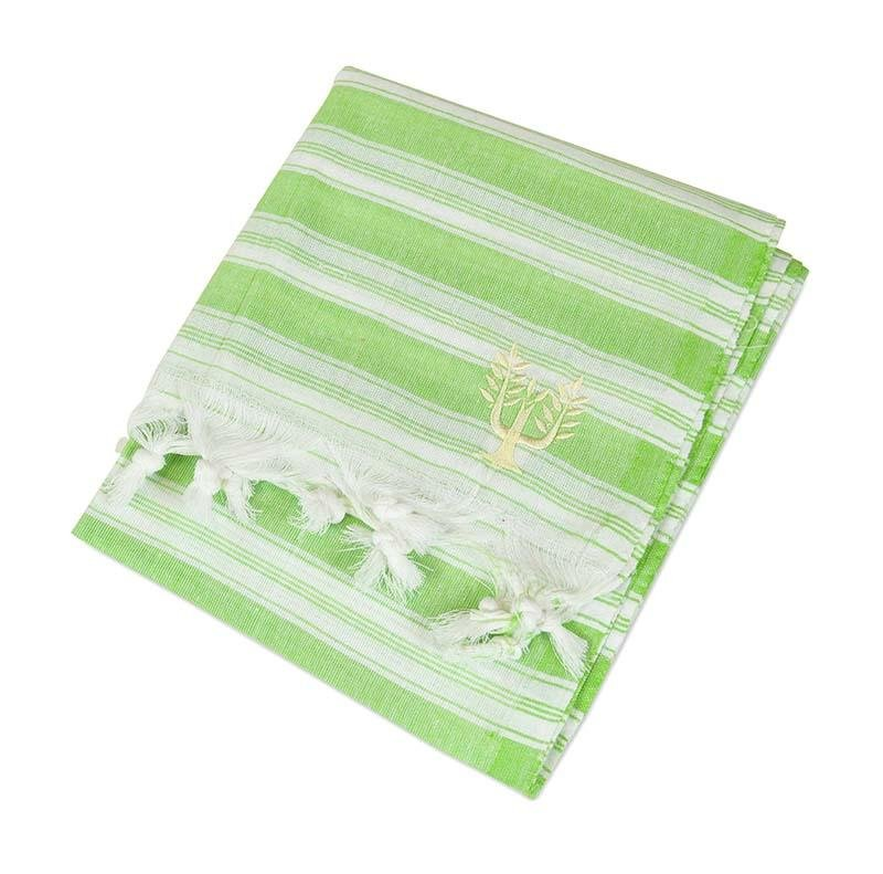 Backpacker Hammam Towel Lime - Wildash London