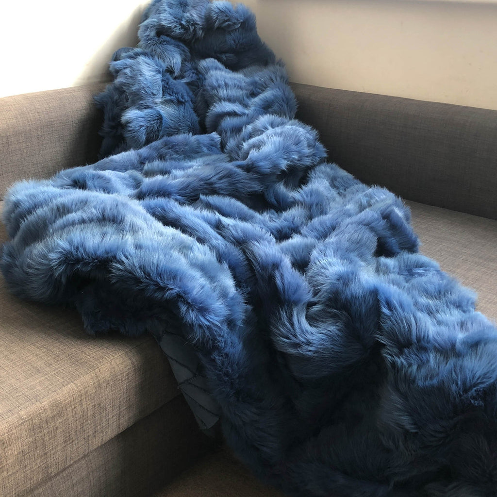 Bleu de Mer Toscana Shearling Throw | Rug | Wildash London - Wildash London