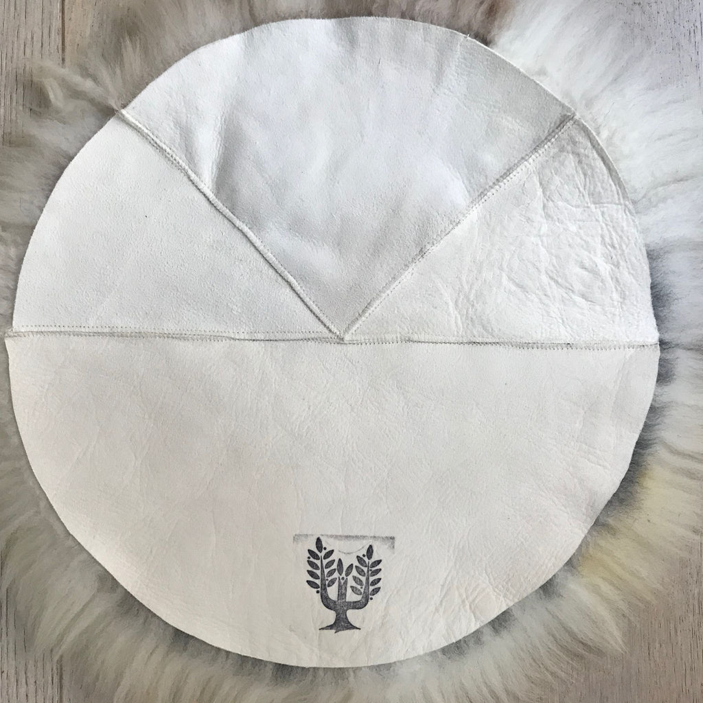 British Sheepskin Roundie Darks ::: Seat Cover 35cm - Wildash London
