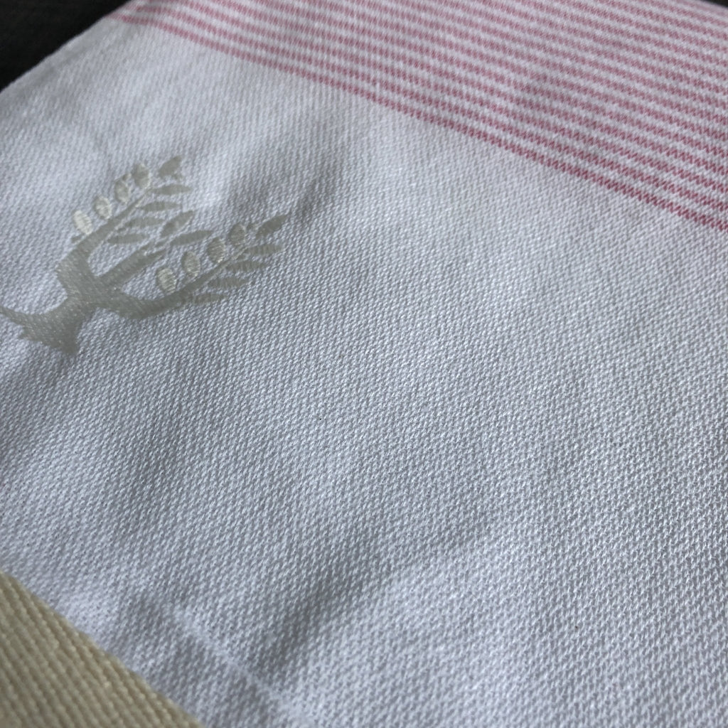 Cancun Hammam Towel - Rose - Wildash London