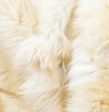 Clotted Cream Tuscan Shearling Throw | Shearling Rug - Wildash London