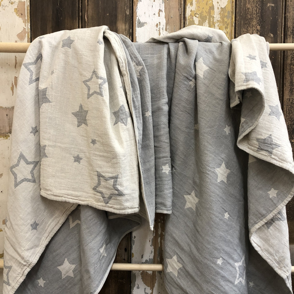 Constellations Jacquard Throw | 100% Cotton | Dove Grey - Wildash London