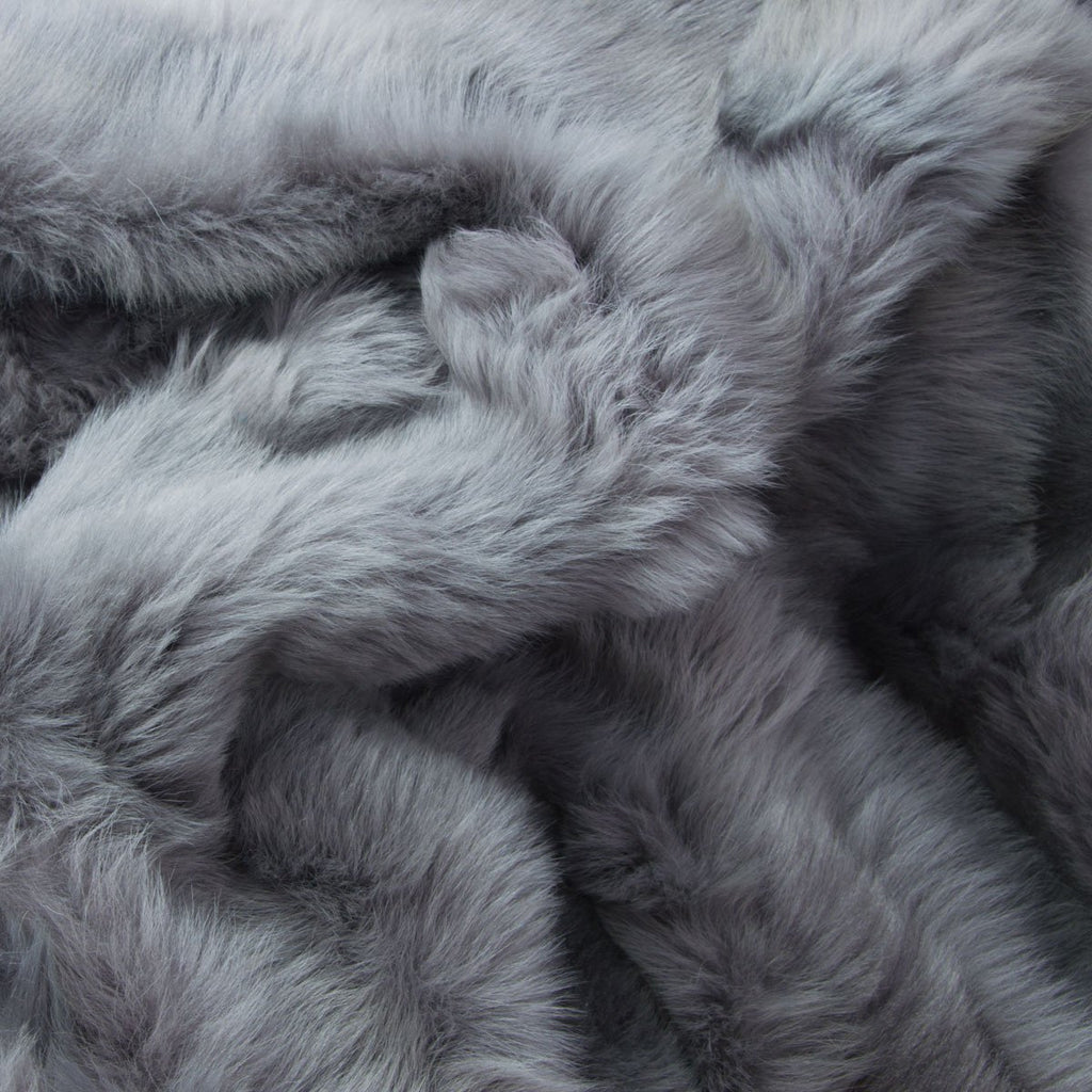Dolphin Grey Sheepskin Throw 60cm x 120cm - Wildash London