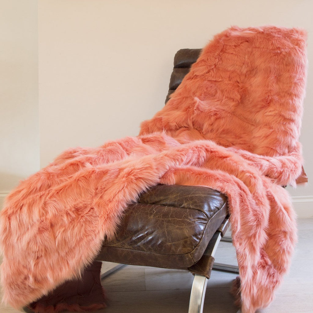 Flamingo Shearling 195cm x 235cm - Wildash London