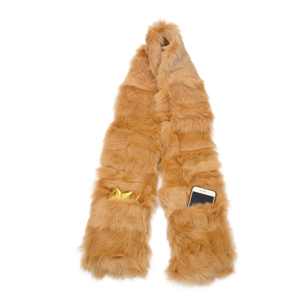 Florence Pocket Scarf 100% Toscana Shearling Fur - Wildash London