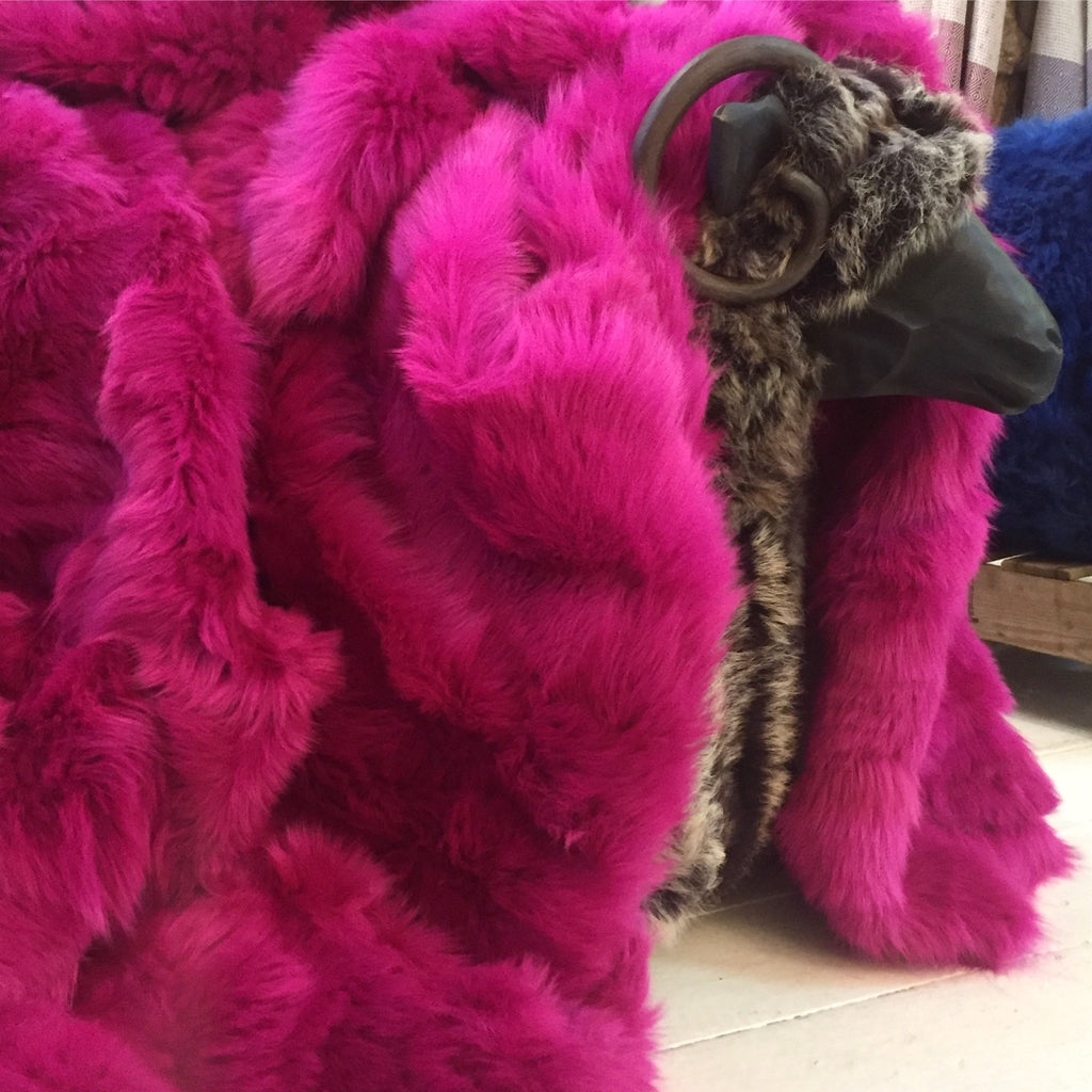 Fuchsia Pink Toscana Shearling - Wildash London