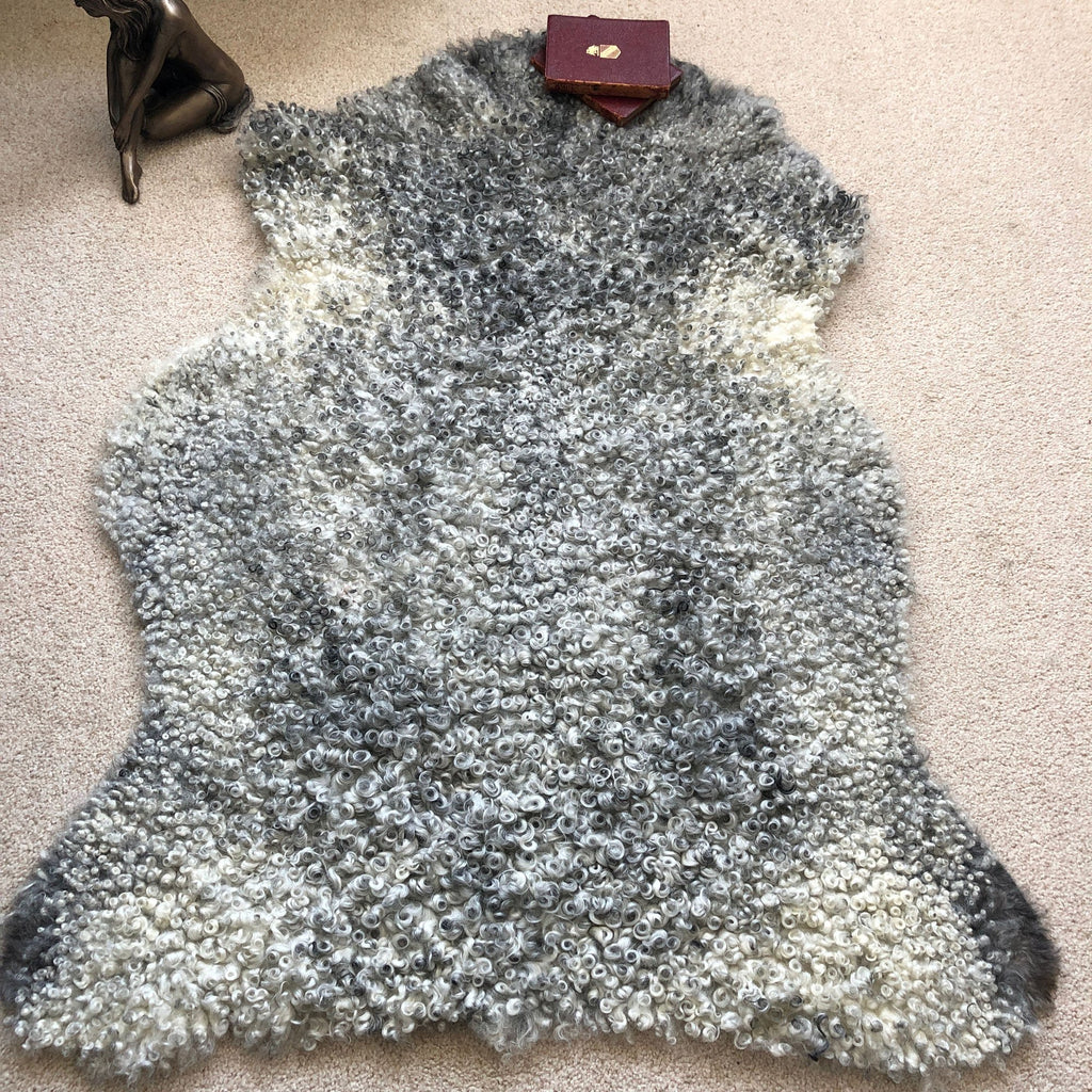 Gotland Rare Breed Sheepskin Natural Greys Mixed Sizes 1903GOT-05 - Wildash London